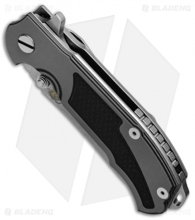 "Hinderer Knives MP-1 Frame Lock Flipper Knife Black/Gray G-10 (3.375"" Stonewash)"