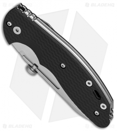 "Hinderer Knives XM Slippy Sheepsfoot Slip Joint Knife Black G-10 (3"" Stonewash)"