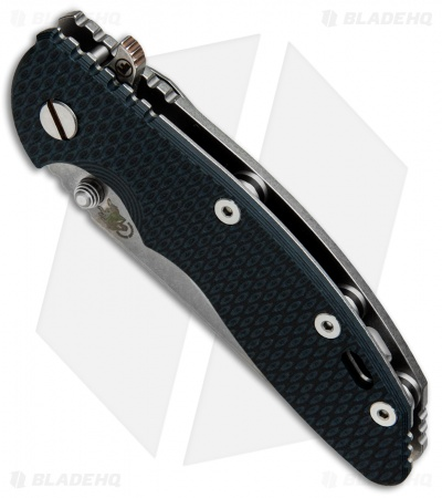 "Hinderer Knives Fatty Ed. XM-18 Wharncliffe Knife Black/Blue G-10 (3.5"" SW)"