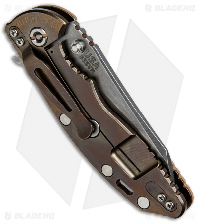 "Hinderer Knives Fatty Ed. XM-18 Wharncliffe Knife Coyote Brown/Bronzed (3.5"" SW)"
