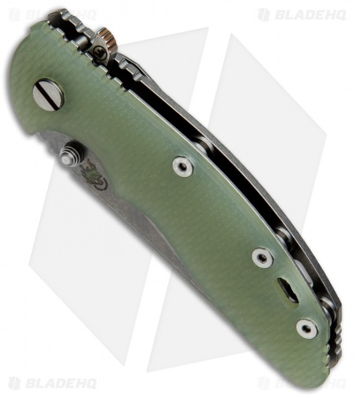 "Hinderer Knives Fatty Edition XM-18 Wharncliffe Knife Jade G-10 (3.5"" SW)"
