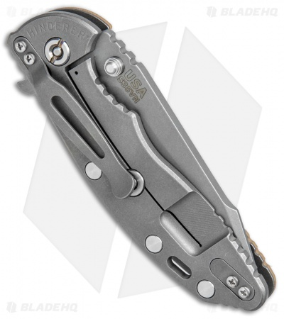 "Hinderer Knives XM-18 Fatty Harpoon Tanto Knife Coyote G-10 (3.5"" Working)"