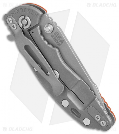 Hinderer Knives XM-18 3.0 Harpoon Knife Orange G-10 (Working)