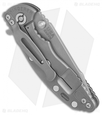 "Hinderer Knives XM-18 Harpoon Tanto Knife Black G-10 (3"" Working)"