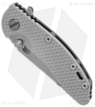 "Hinderer Knives XM-18 Harpoon Tanto Flipper Knife Gray G-10 (3"" Stonewash)"