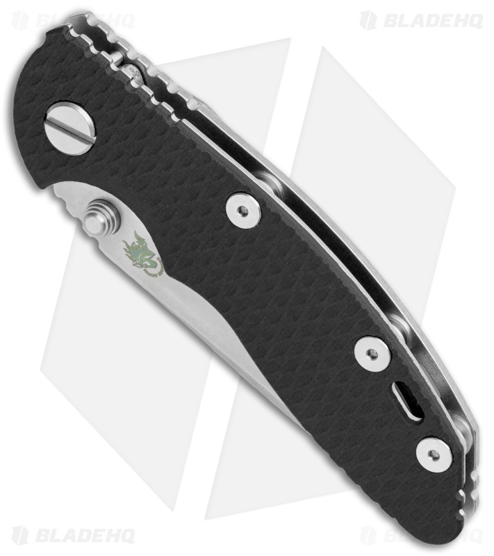 "Hinderer Knives XM-18 3"" Spear Point Non-Flipper Knife Black G-10 (Stonewash)"