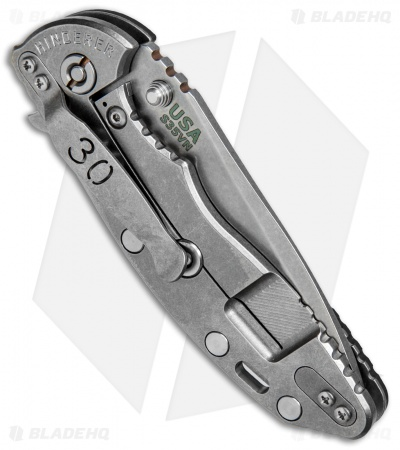 "Hinderer Knives XM-18 Spanto 30th Anniversary Knife Black G-10 (3.5"" Stonewash)"