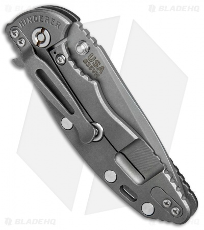 Hinderer Knives XM-18 3.5 Spanto Flipper Knife Black G-10 (Working)