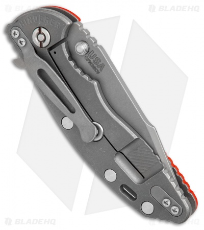 "Hinderer Knives XM-18 Harpoon Spanto Knife Orange G-10 (3.5"" Working)"