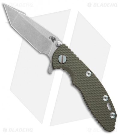 "Hinderer Knives XM-18 Harpoon Tanto Knife OD Green G-10 (3"" Stonewash)"