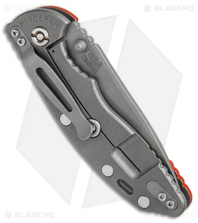 "Hinderer Knives XM-18 Slicer Frame Lock Orange G-10 (3.5"" Working)"