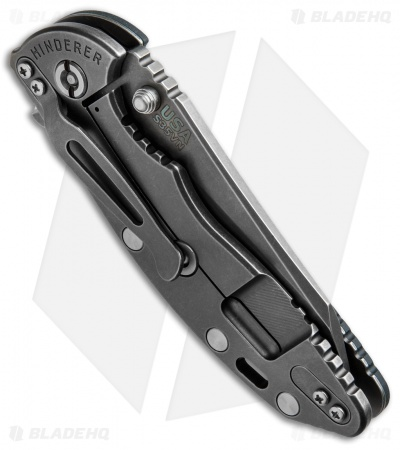"Hinderer XM-18 3.5 FATTY Wharncliffe Black/Green (3.5"" Battle Anthracite)"