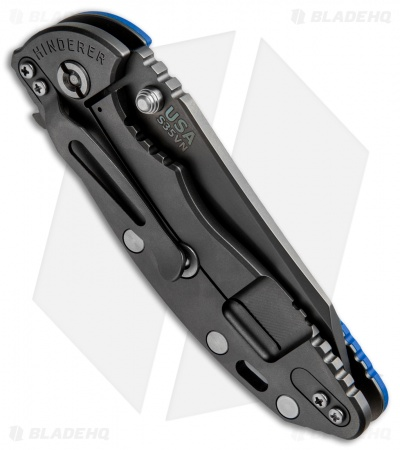 "Hinderer XM-18 3.5 FATTY Wharncliff Blue (3.5"" Anthracite)"