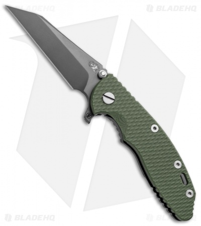 "Hinderer XM-18 3.5 FATTY Wharncliff OD Green (3.5"" Anthracite)"