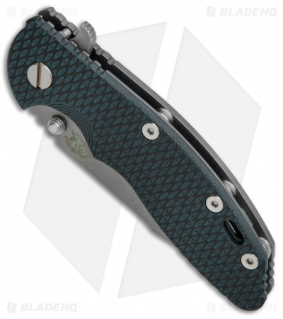 Hinderer Knives XM-18 3.5 Harpoon Spanto Knife Green/Black G10 (Working Finish)