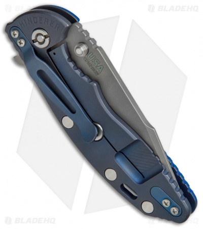 "Hinderer Knives XM-18 Harpoon Spanto Blue G-10 / Blue Ano (3.5"" CPM20CV Working)"