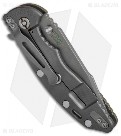 "Hinderer Knives XM-18 Harpoon Spanto Knife OD Green G-10 (3.5"" CPM20CV Working)"