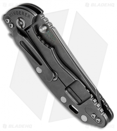 "Hinderer XM-18 3.5 FATTY Wharncliffe Black (3.5"" Battle Anthracite)"
