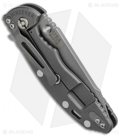"Hinderer Knives Fatty XM-18 Harpoon Knife Battle Gray G-10 (3.5"" Working)"