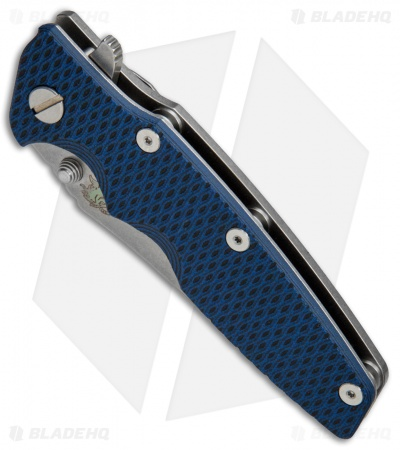 "Hinderer Knives Eklipse Gen 2 Harpoon Knife Blue/Black G-10 (3.5"" Stonewash)"