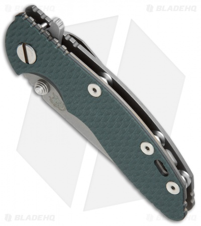 "Hinderer Knives XM-18 Recurve Flipper Knife Dark Green G-10 (3"" Stonewash)"