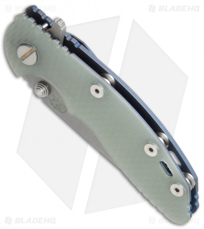 "Hinderer Knives  XM-18 Recurve Knife Translucent G-10/Battle Blue (3"" Working)"