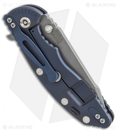 "Hinderer Knives Fatty Ed. XM-18 Harpoon Knife Blk/Green/Blue Ano (3.5"" Working)"