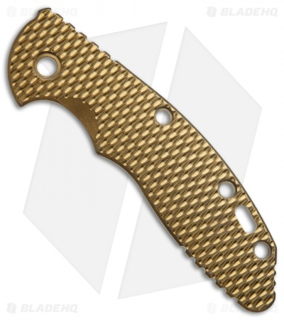 Hinderer XM-18 3.5 Textured Replacement Handle Scale (Gold Titanium)