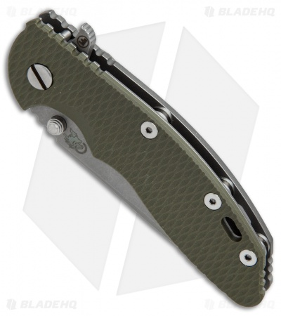 "Hinderer Knives Fatty Edition XM-18 Spanto Flipper Knife OD Green (3.5"" Working)"