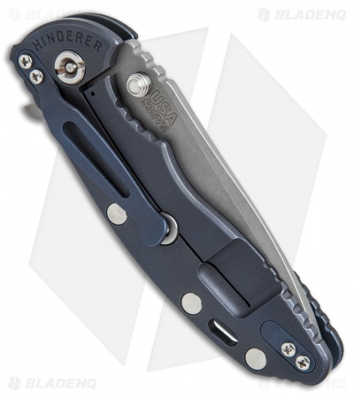 "Hinderer Knives Fatty Ed. XM-18 Spanto Knife Black G-10/Blue Ti (3.5"" Working)"