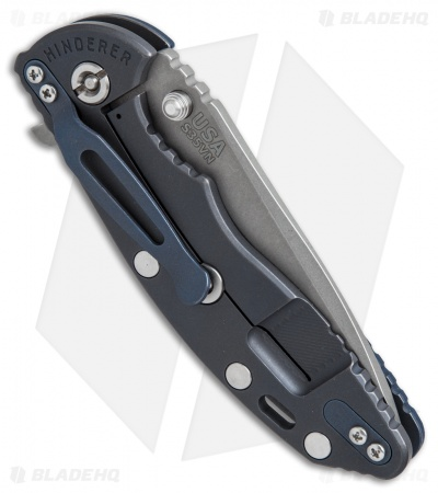 Hinderer Knives Fatty Ed. XM-18 3.5 Spanto Knife Blue/Blk G-10 Ano Ti (Working)
