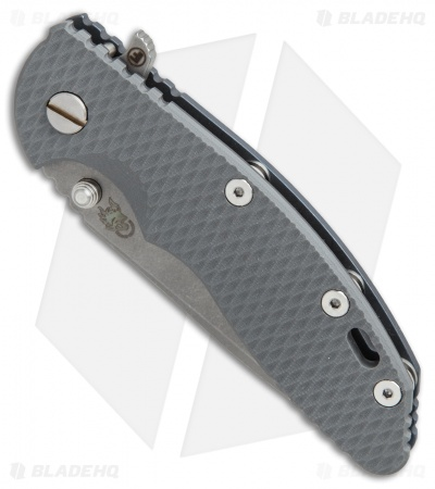 Hinderer Knives Fatty Ed. XM-18 3.5 Spanto Knife Gray G-10/Blue Ti (Working)