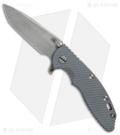 "Hinderer Knives Fatty Ed. XM-18 Spanto Knife Gray G-10/Blue Ti (3.5"" Working)"