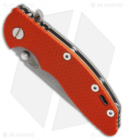 "Hinderer Knives Fatty Edition XM-18 Spanto Flipper Knife Orange (3.5"" Working)"