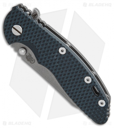 "Hinderer Knives Fatty Edition XM-18 Wharncliffe Knife Black/Blue (3.5"" Working)"