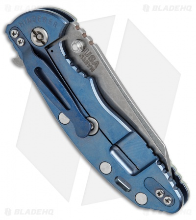 "Hinderer Knives Fatty Edition XM-18 Wharncliffe Knife Jade/Blue Ano (3.5"" SW)"