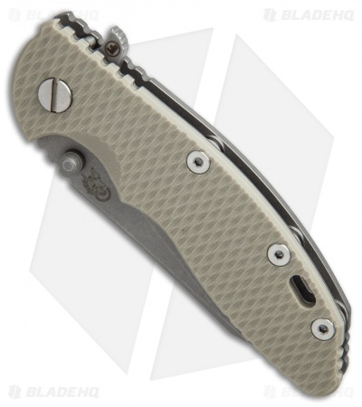Hinderer Knives Fatty Edition XM-18 3.5 Wharncliffe Knife Sand G-10 (Working)