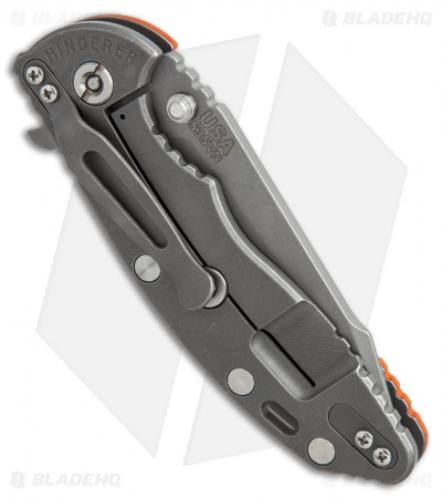 "Hinderer Knives Fatty Edition XM-18 Harpoon Knife Orange G-10 (3.5"" Working)"