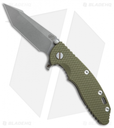 "Hinderer Knives Fatty Edition XM-18 Harpoon Knife OD Green (3.5"" Working)"