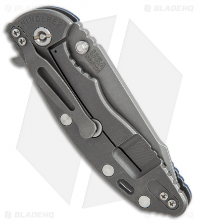 "Hinderer Knives Fatty Edition XM-18 Harpoon Knife Blue/ Black (3.5"" Working)"