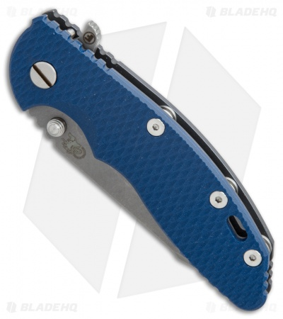 Hinderer Knives XM-18 3.5 Fatty Harpoon Knife Blue G-10/Blue Ano (Working)