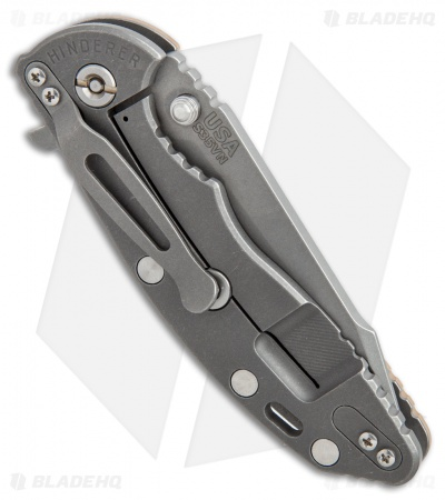 "Hinderer Knives Fatty XM-18 Harpoon Knife Tan G-10 (3.5"" Working)"