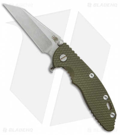 "Hinderer Knives Fatty Edition XM-18 Wharncliffe Knife OD Green G-10 (3.5"" SW)"