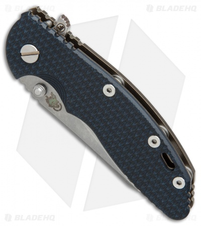 "Hinderer Knives Fatty Ed. XM-18 Wharncliffe Knife Dark Blue/Black G-10 (3.5"" SW)"