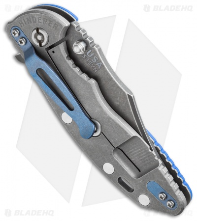 "Hinderer Knives XM-18 Skinner Flipper Knife Blue G-10 (3.5"" Black)"