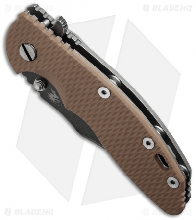 "Hinderer Knives XM-18 Bowie Flipper Knife Coyote Brown (3.5"" Black SW)"