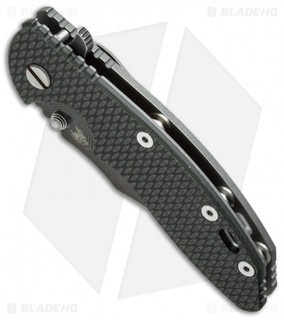 "Hinderer Knives XM-18 Bowie Flipper Knife Green/Black (3.5"" Black SW)"