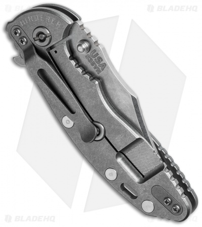 "Hinderer Knives XM-18 Bowie Flipper Knife Gray (3.5"" Stonewash)"