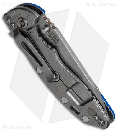 "Hinderer Knives Fatty Edition XM-18 Harpoon Knife Blue G-10 (3.5"" Stonewash)"