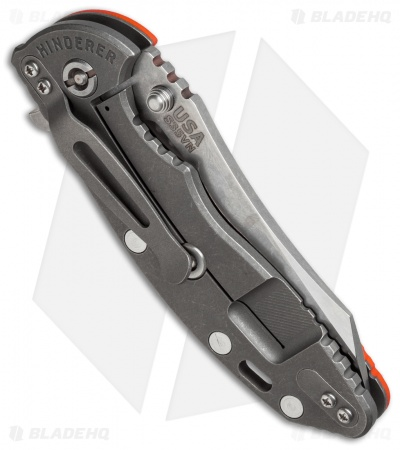 "Hinderer Knives XM-18 2016 LE Skinner Flipper Knife Orange G-10 (3.5"" Satin/SW)"